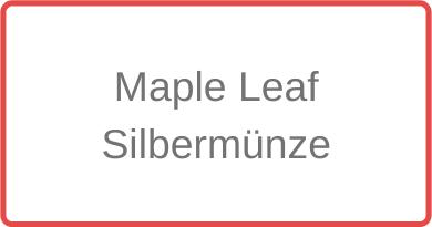 Maple Leaf Silbermünze